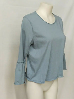 Abercrombie and Fitch Womens' L sage green top with 3/4 peasant sleeves