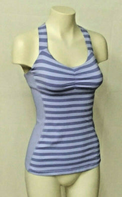 Lululemon Womens Size 4 Blue Cross Strap Tank Top Built in Bra