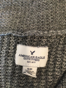 American Eagle Women's Gray Button Down Long Sleeve Cardigan Sweater Size S