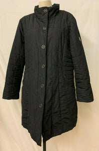 Gerry Weber Women's 14 Black quilted light weight winter Coat long
