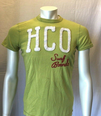 Hollister HCO Surf Boards Tee Men's Green Short Sleeve T Shirt Size Small