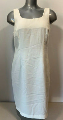 Dino Women's Size 15/16 White Polyester Vintage Fitted Sleeveless Dress