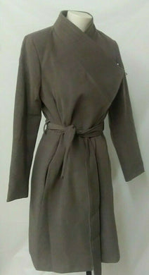 Suzy Shier Women's M Brown Trench Coat Belted side pockets BNWT
