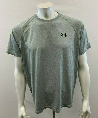 Under Armour Heat Gear Men's Large Loose Gray Short Sleeve Active Wear Shirt