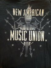 Load image into Gallery viewer, American Eagle Vintage Fit Men's Black Cotton Music Union T Shirt Size Medium