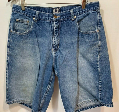 168 Jeanswear Co. Men's Size 36 Denim Zipper Fly 100% Cotton Blue Jean Shorts