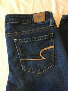 American Eagle Stretch Skinny Women's Low Rise Denim Blue Jeans Size 2