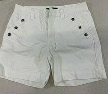 Load image into Gallery viewer, Lauren Ralph Lauren LRL Womens Size 10 White 100% Cotton Flat Front Chino Shorts