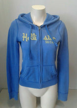 Load image into Gallery viewer, Hollister Hoodie Blue Long Sleeve Size Medium Womens Full Zip Hooded Jacket Sz S