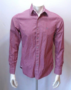 American Eagle Men's Long Sleeve Vintage Fit Red Striped Button Down Shirt Sz S