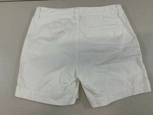 Lauren Ralph Lauren LRL Womens Size 10 White 100% Cotton Flat Front Chino Shorts