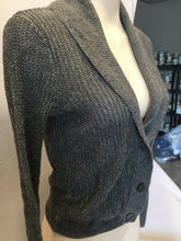 Load image into Gallery viewer, American Eagle Women's Gray Button Down Long Sleeve Cardigan Sweater Size S