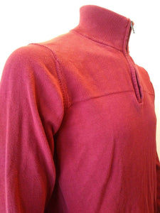 Tommy Hilfiger Men's Red Long Sleeve 1/4 Zip Mock Turtleneck Sweater Size Large