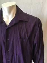 Load image into Gallery viewer, Calvin Klein Purple Long Sleeve Men's 17 1/2  Polka Dot Button Up Dress Shirt
