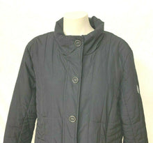 Load image into Gallery viewer, Gerry Weber Women's 14 Black quilted light weight winter Coat long