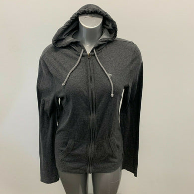 Abercrombie & Fitch Jacket Women's Medium Gray Long Sleeve Hooded Full Zip