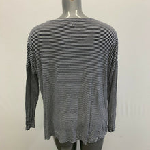 Load image into Gallery viewer, Abercrombie & Fitch Long Sleeve T Shirt Women's XS Blue White Striped Scoop Neck