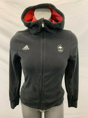 Adidas Olympics Logo Canada Spell Out Women's XS Black Hooded sweatshirt