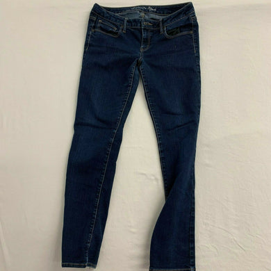 American Eagle Jeans Women's Size 14 Skinny Stretch Low Rise Blue Jeans