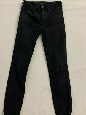 American Eagle Jeggings Women's Size 2 Next Level Stretch High Rise Black Jeans