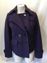 Load image into Gallery viewer, American Eagle Outfitters Purple Double Breasted Wool Blend Coat Size Small