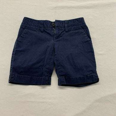 American Eagle Women's Shorts Size 0 Blue Snap Button Stretch Low Rise Short