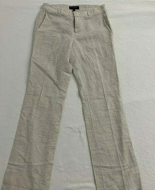 Banana Republic Dress Pants Women's Size 0 Martini Fit Beige Linen Cotton Mid