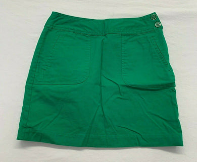 Banana Republic Womens Pencil Skirt Size 4 Green Stretch Side Zipper Pockets