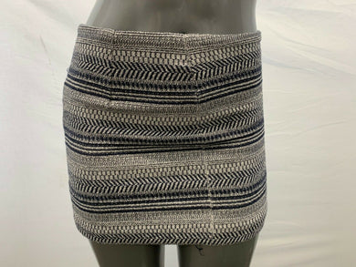 Banana Republic Size 4 Women's Blue White Pattern Back Zipper Short Pencil Skirt