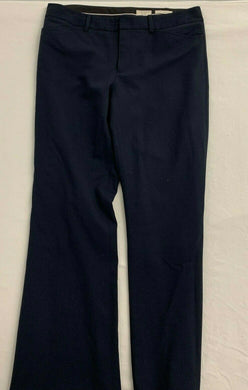 Club Monaco Dress Pants Women's Size 10 Italian Tropical Wool Blue Wide Leg High
