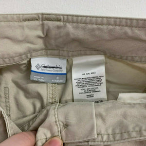 Columbia Pants Women's Size 8 Beige High Rise Straight Leg Casual Cotton Blend