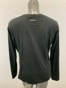 Columbia Women's XL Black Long Sleeve Patterned Crew Neck Polyester Activewear S