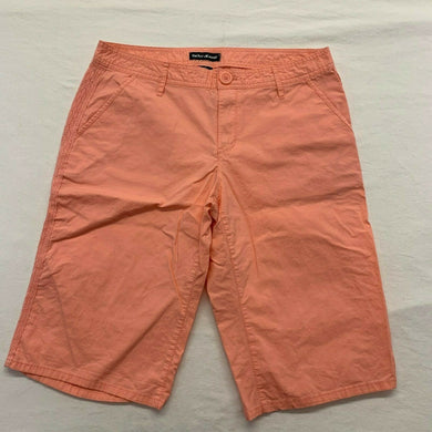 DKNY Jeans Women's Casual Shorts Size 12 Peach Stretch High Rise Lace Trim