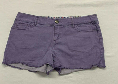 Firefly Women's Cut Off Shorts Size 33 Purple Stretch Mid Rise Casual Walking