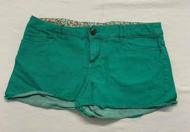Firefly Women's Green Cut Off Shorts Size 6 Stretch Casual Beach Shorts