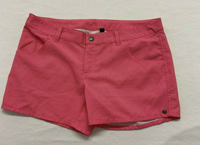 Firefly Women's Shorts Size Medium Pink White Striped Stretch Low Rise Polyester