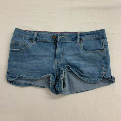G21 Shorts Women's Size 7 Denim Low Rise Stretch Blue Jean Short Shorts