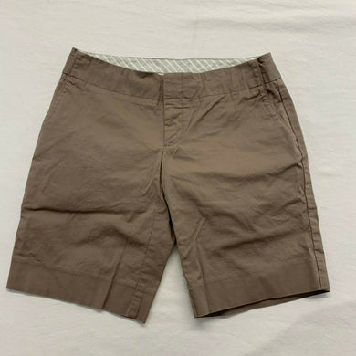 Gap Khaki Shorts Women's Size 2 Beige Stretch Low Rise Flat Front Chino Shorts