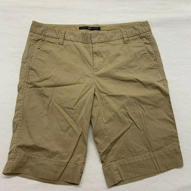 Gap Women's Shorts Size 4 Beige Low Rise Stretch Casual Chino/Khaki Flat Front