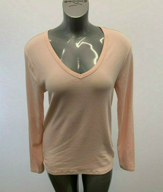Gap V Neck Pullover Shirt Pink Top Women's XL Cotton Blend Pullover Shirt