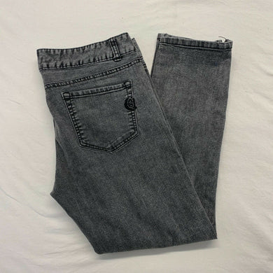 Guess Jeans Women's Size 31 Gray Stretch Mid Rise Side Zipper Ankle Jeans