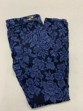 Guess Jeans Women's Brittney-Skinny Ankle Length Blue Floral Stretch Jeans Size