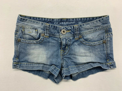 Guess Jeans Women's Size 27 Stretch Low Rise Distressed Booty Shorts