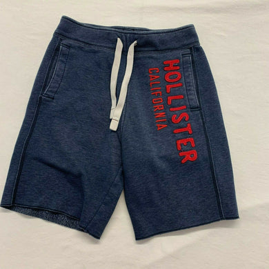 Hollister Men's Jogger Shorts Size XS Blue Spell Out Cotton/Poly Sweatshorts