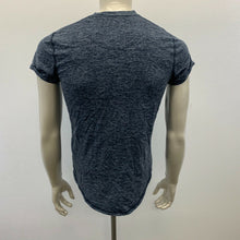 Load image into Gallery viewer, Hollister Curved Hem Tee Shirt Men's Small Blue Short Sleeve Crew Neck Logo T