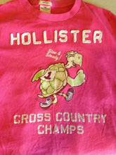 Load image into Gallery viewer, Hollister Women's Surfer Cut Pink Crew Neck Short Sleeve Graphic T Shirt
