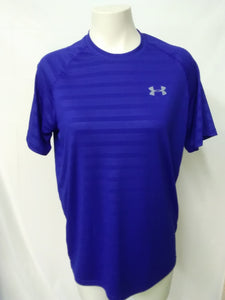 Under Armour heatgear Men's S T-shirt loose fit two tone Royal Blue striped