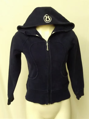 Lululemon Women's 2 Scuba Jacket Navy Blue Hooded full Zip
