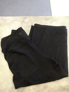 Lululemon Women's 4 black ankle length yoga pants with wide flowy legs high rise waist