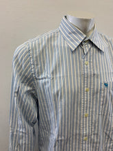 Load image into Gallery viewer, Abercrombie & Fitch Mens Blue Striped Cotton Button Up Long Sleeve Shirt